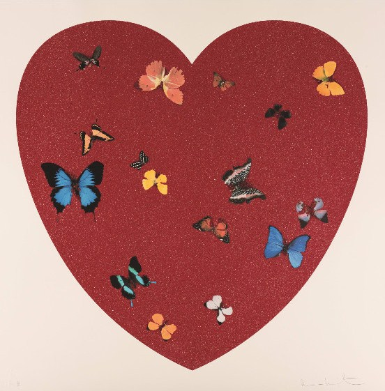 Damien Hirst-Big Love (Diamond Dust Version)-2010