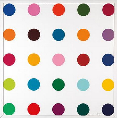 Damien Hirst-Bromobenzotrifluoride (from Woodcut Spots)-2010