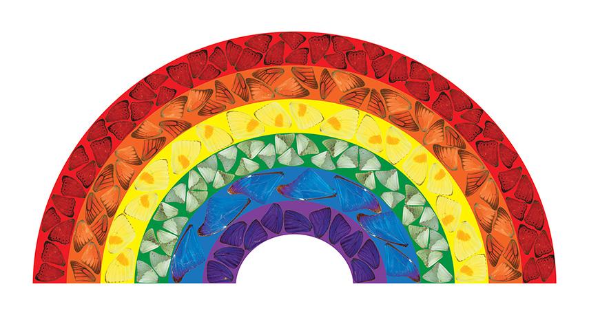 Damien Hirst - Butterfly Rainbow