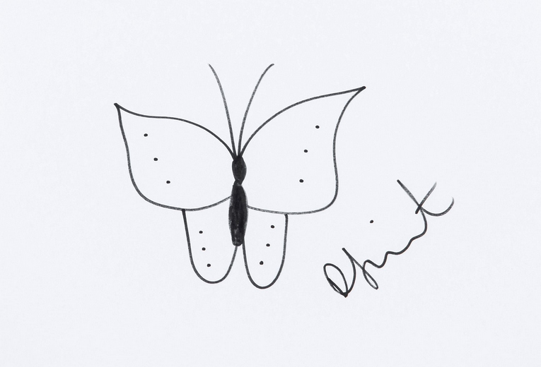 Damien Hirst-Butterfly Sketch-2006