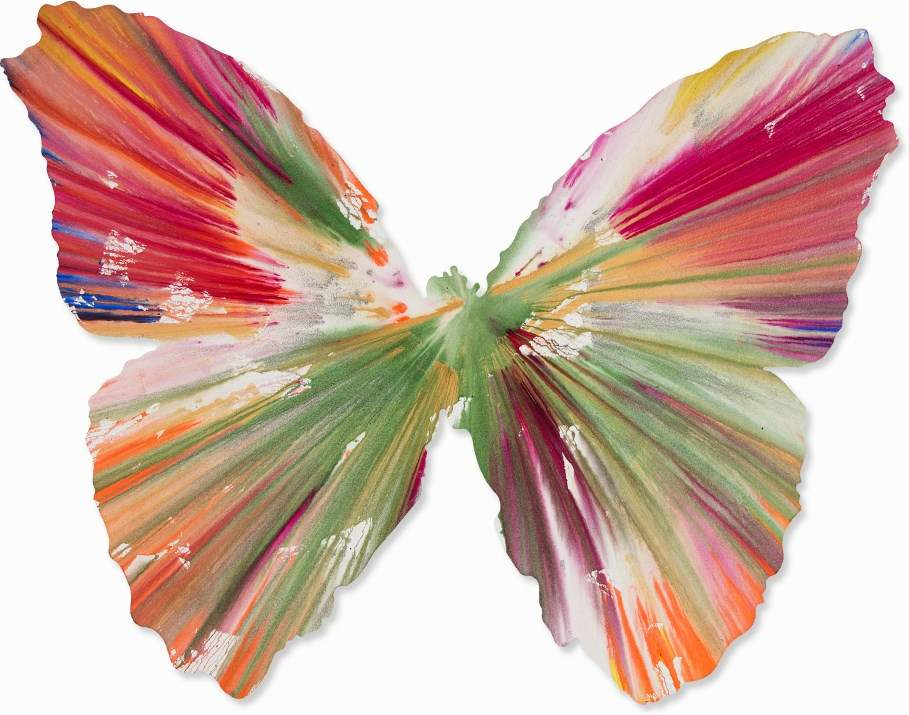 Damien Hirst-Butterfly Spin Painting-2009