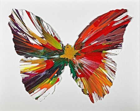 Damien Hirst-Butterfly Spin Painting (Created at Damien Hirst Spin Workshop)-2009
