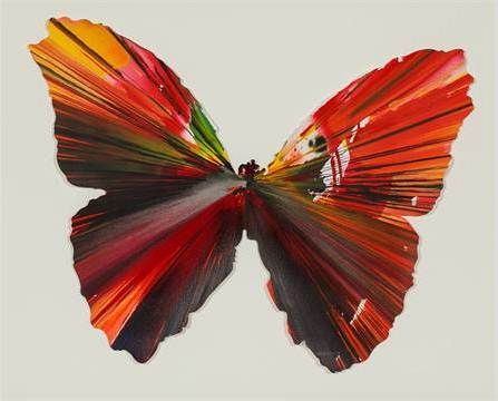 Damien Hirst-Butterfly Spin Painting-