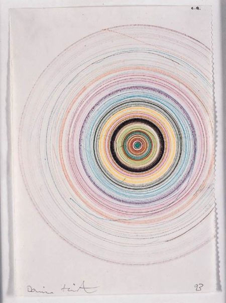 Damien Hirst-C.Q Beautiful Mild Psychotic Drawing (with Small Blue Interference)-1993