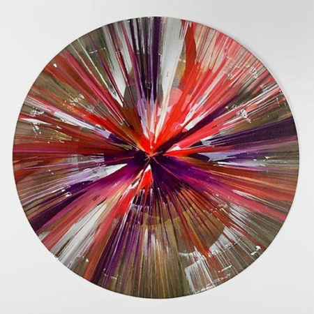 Damien Hirst-Circle Spin Painting (Created at Damien Hirst Spin Workshop)-2009