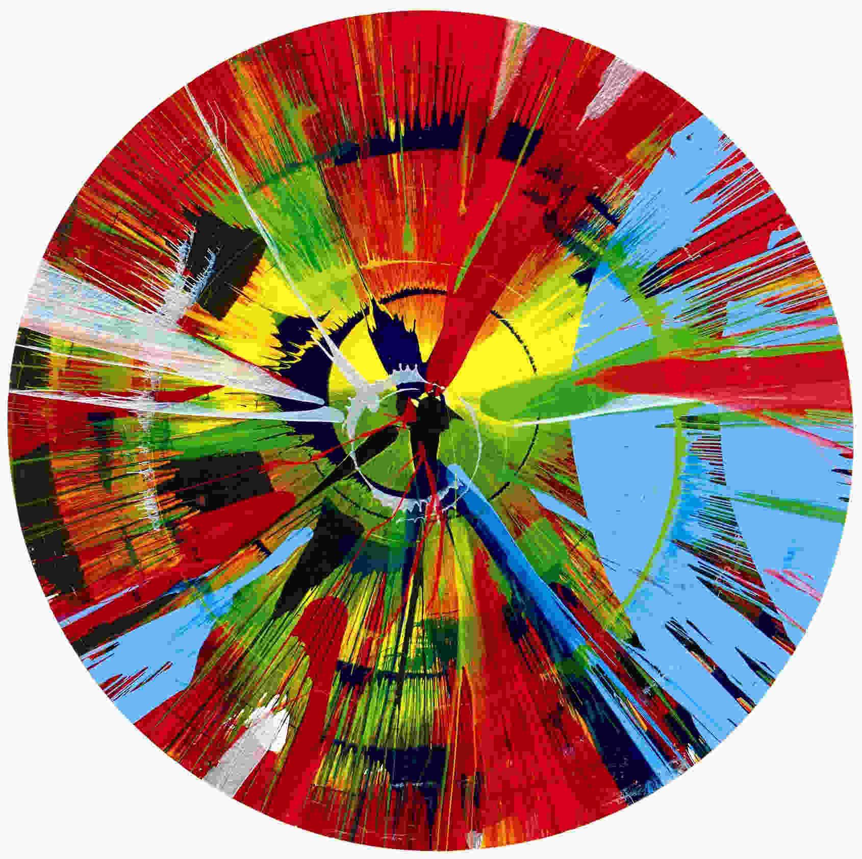 Damien Hirst-Circle Spin Painting-
