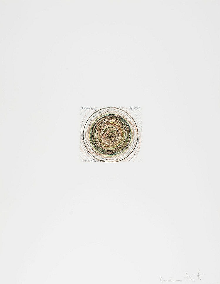 Damien Hirst-Circles in the Sand (from In a Spin, The Action of the World on Things, Vol. I)-2002