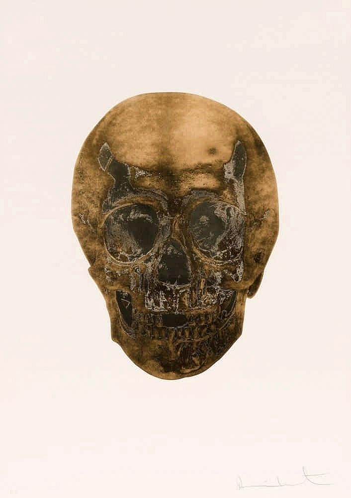 Damien Hirst-Death of Glory, Autumn Gold, Cool Gold, Glorious Skull-2011