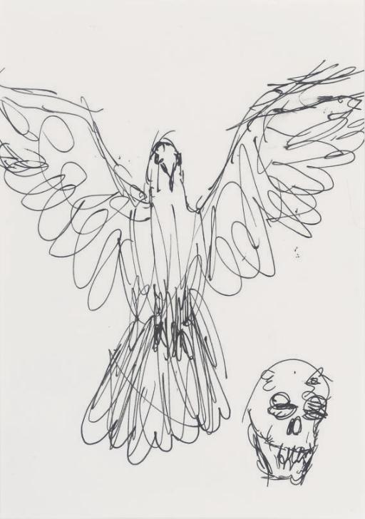 Damien Hirst-Dove & Skull-