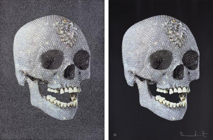 Damien Hirst-For The Love of God The Diamond Skull, For The Love of God Laugh-2008
