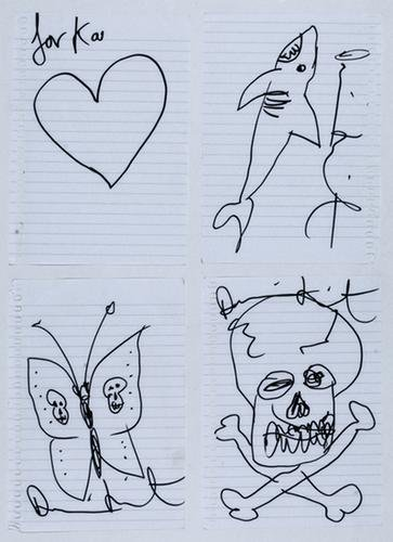 Damien Hirst-Four Drawings-2006