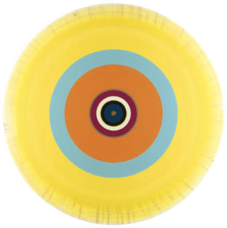 Damien Hirst-Gorgeous Concentric 60 Watt Painting-2002