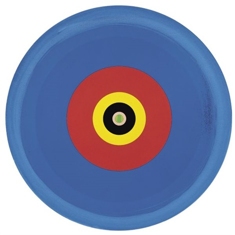 Damien Hirst-Gorgeous Concentric Red Blue Hot Cold Painting with Green Centre-2002
