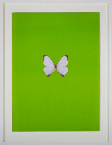 Damien Hirst-Green Butterfly (It's a Beautiful Day)-