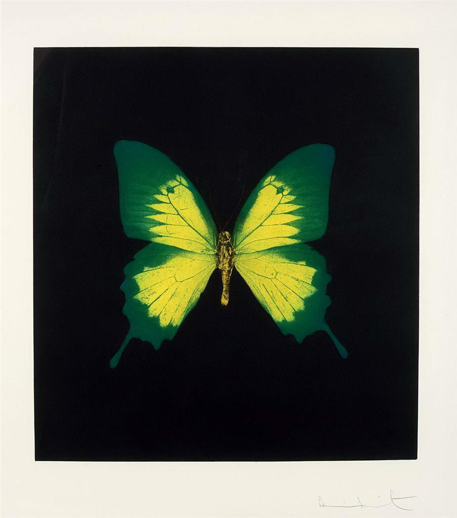 Damien Hirst-Green Yellow Butterfly from Memento-