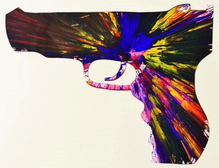 Damien Hirst-Gun Spin Painting (Created at Damien Hirst Spin Workshop)-
