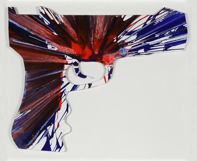 Damien Hirst-Gun Spin Painting (Created at Damien Hirst Spin Workshop)-