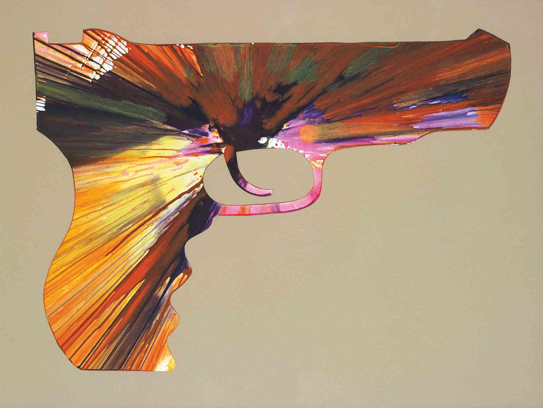 Damien Hirst-Gun Spin Painting (Created at Damien Hirst's Spin Workshop)-