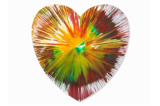 Damien Hirst-Heart Spin Painting-2009