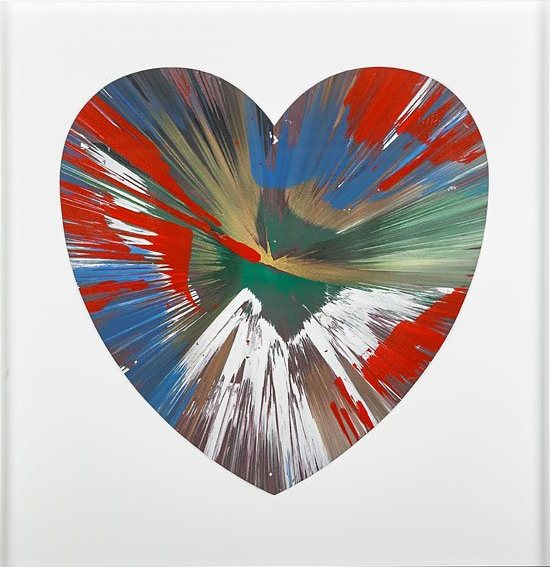 Damien Hirst-Heart Spin Painting (Created at Damien Hirst Spin Workshop)-2009