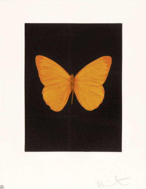 Damien Hirst-Hope (from Butterfly Etchings )-2009