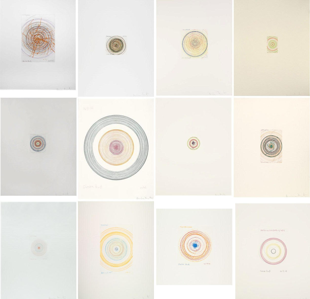 Damien Hirst-In a Spin, the Action of the World on Things Vol. I: Twelve Plates-2002