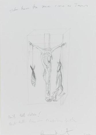 Damien Hirst-Judas Shares the Same Cross as Jesus-2004