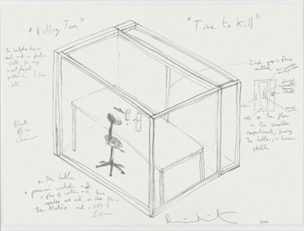 Damien Hirst-Killing Time Drawing-2008