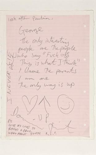 Damien Hirst-Letter to George (The Beatles)-