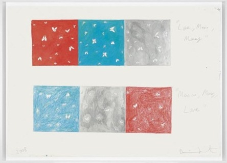 Damien Hirst-Love Mexico Money Drawing-2008
