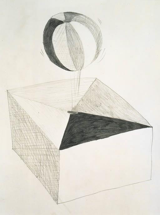 Damien Hirst-Loving in a World of Desire (Preparatory Sketch)-1995