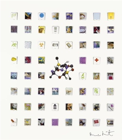 Damien Hirst-Matchbook Collection Collage-2004