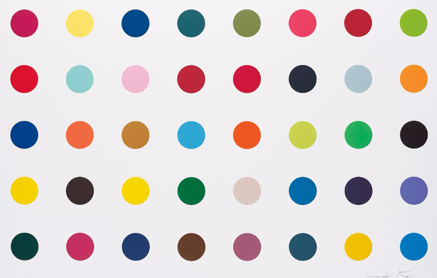 Damien Hirst-Methyl Phenylsulfoxide, from Woodcut Spots-2010