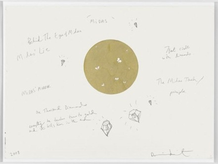 Damien Hirst-Midas Drawing-2008