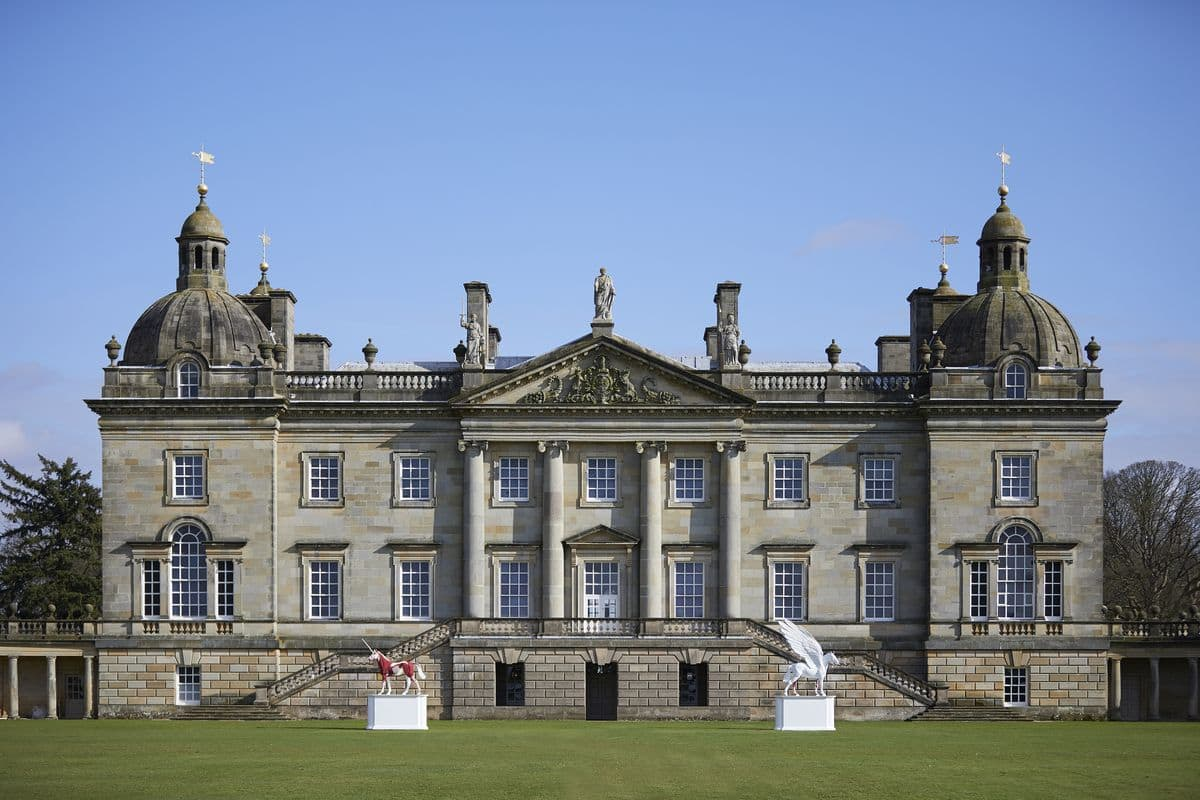 Damien Hirst - Myth and Legend, by the entrance to the hall at HOUGHTON HALL, NORFOLK