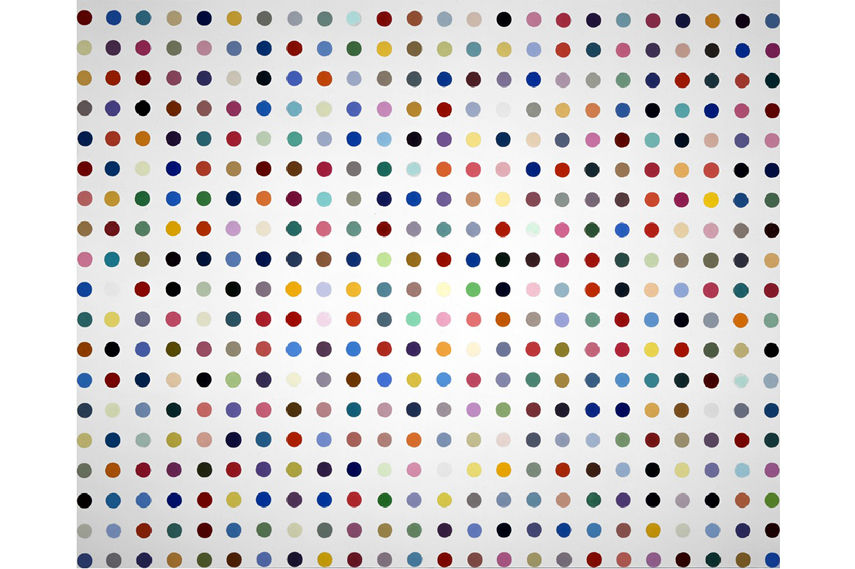 Damien Hirst - One of his dot paintings - Image via Artinfo com