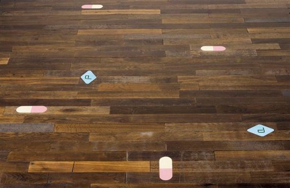 Damien Hirst-Original Pharmacy Wooden Flooring-1998