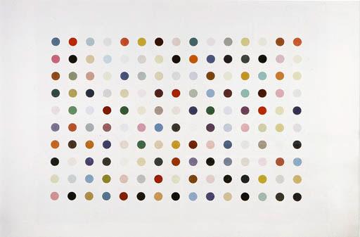 Damien Hirst-Pharmaceutic Wall Painting, Five Blacks-1993