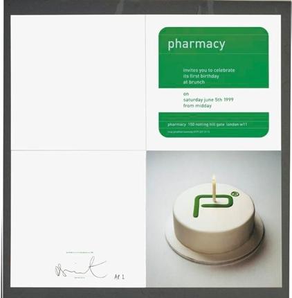 Damien Hirst-Pharmacy Birthday Invitation Card-1999