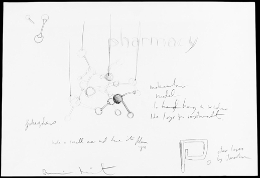 Damien Hirst-Pharmacy and the Molecular Structure Drawing-1997