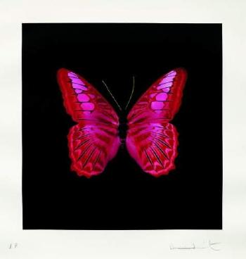 Damien Hirst-Pink Butterfly-2008