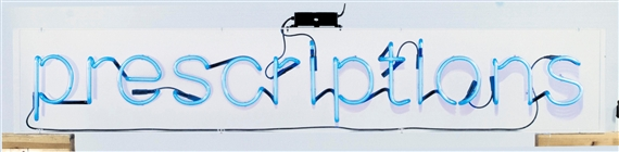 Damien Hirst-Prescriptions Sign-2004