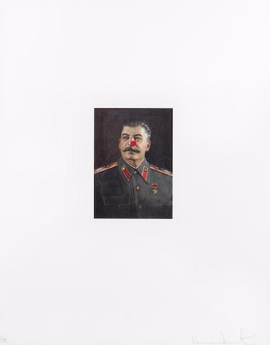 Damien Hirst-Red Nose Stalin-