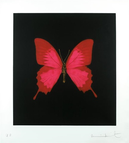 Damien Hirst-Red and Pink Butterfly-2008