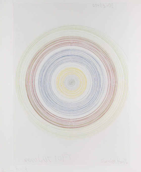 Damien Hirst-Revolution (from In a Spin, the Action of the World on Things, Vol. II)-2002
