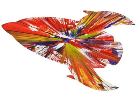 Damien Hirst-Rocket Spin Painting (Created at Damien Hirst Spin Workshop)-2009