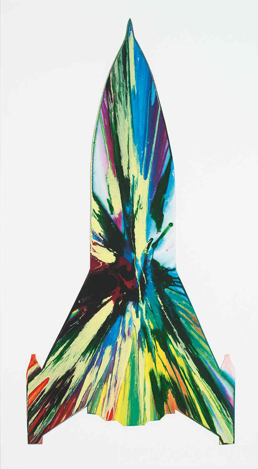 Damien Hirst-Rocket Spin Painting (Created at Damien Hirst's Spin Workshop)-