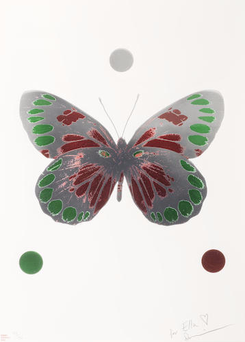 Damien Hirst-Science Xmas Butterfly Print-2010