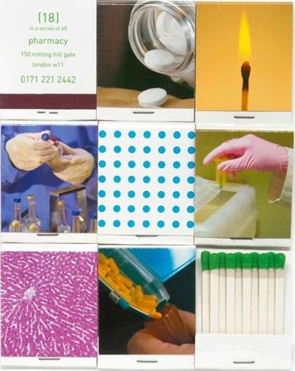 Damien Hirst-Set of 60 Pharmacy Matchbooks-1998
