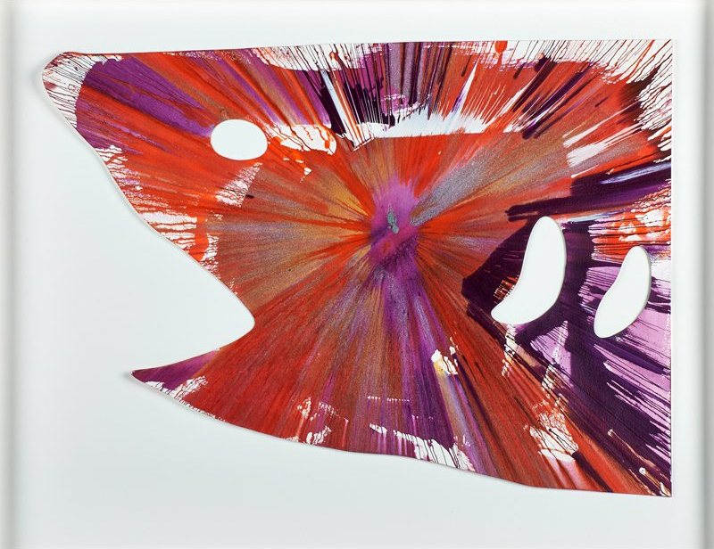 Damien Hirst-Shark Spin Painting (Created at Damien Hirst Spin Workshop)-2009
